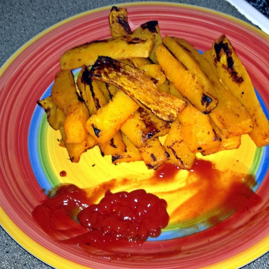 Baked Sriracha Butternut Squash Fries Recipe — Dishmaps