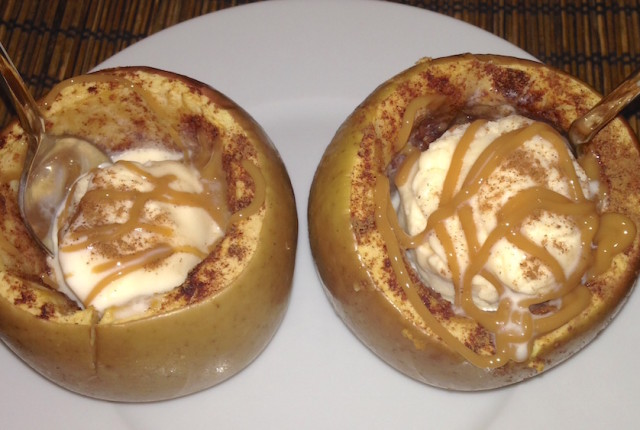 Baked Apples and Ice Cream