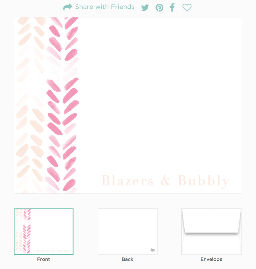 Basic Invite Stationery and Invites