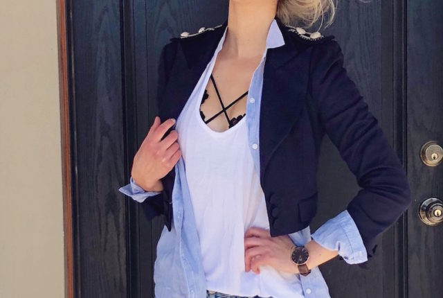 Blazers and Bralettes