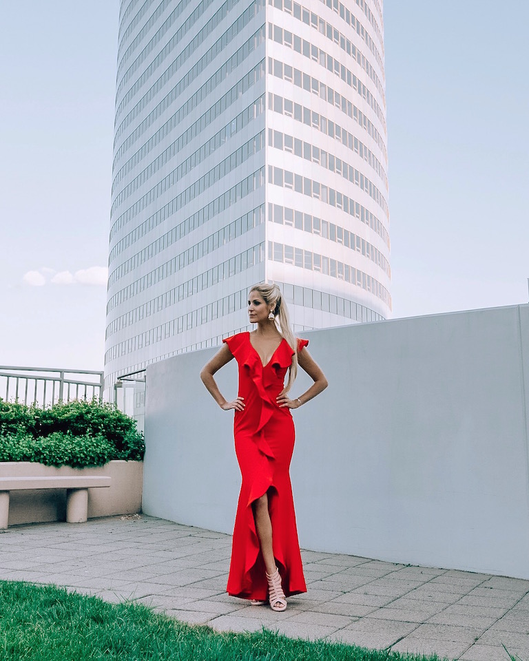 Red Emoji Dress and Pablo Raya Photography