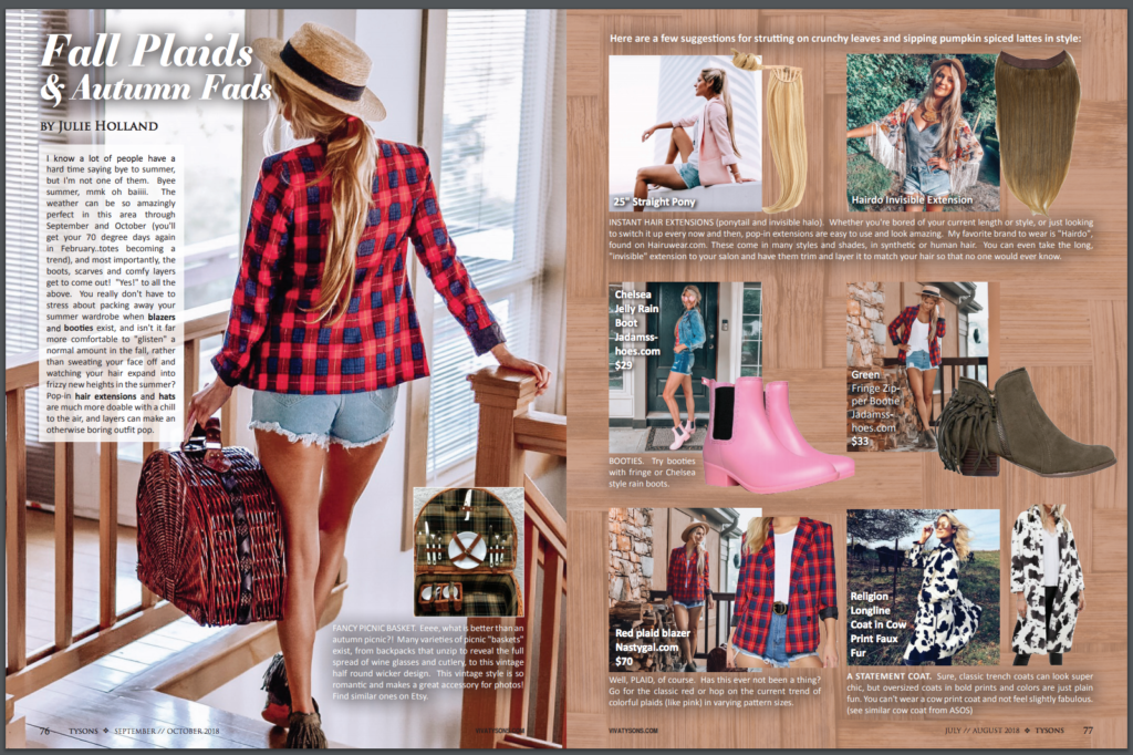 Fall Plaids & Autumn Fads — Viva Tysons Magazine Sep Oct 2018