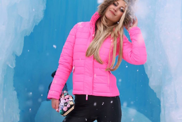 Superdry hot pink coat - Dillon Colorado Ice Castle