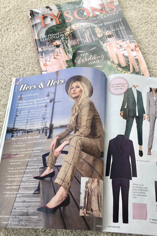 Viva Tysons Magazine March 2019 Hers & Hers Style Julie Holland