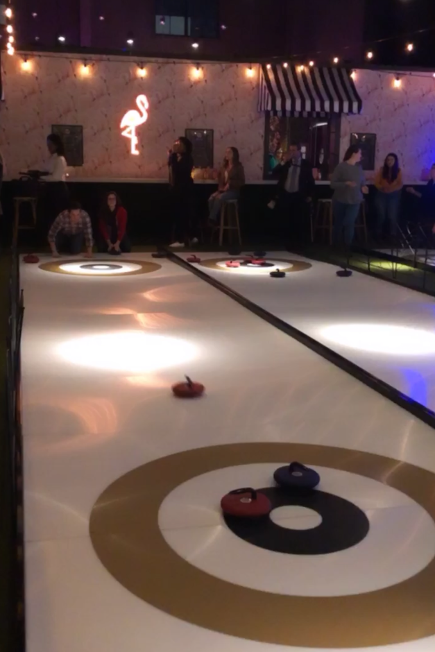 Iceless curling throw social