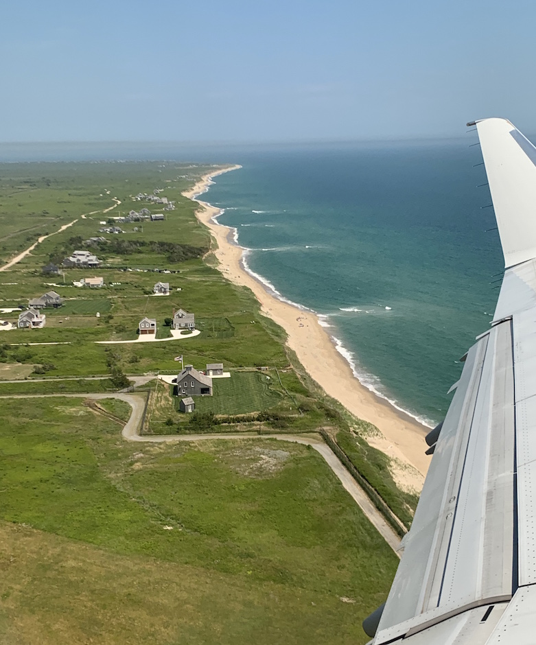 Airplane view of Nantucket
